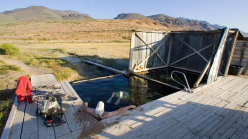 Soothe those muscles with a deep soak at the rustic Alvord Hot Springs in the far southeastern corner of Oregon. (Photo by: Chuck Haney)
