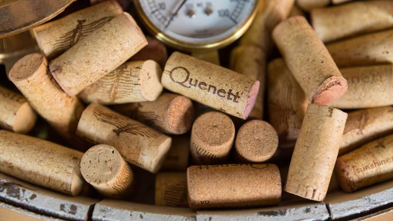 Wine corks on a measuring table