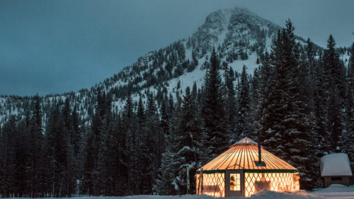 The backcountry yurt at Anthony Lakes Mountain Resort. (Photo credit: David Hanson)