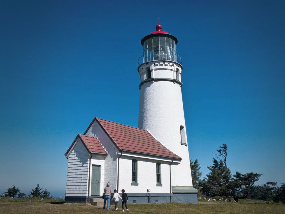 White lighthouse at Cape Blanco