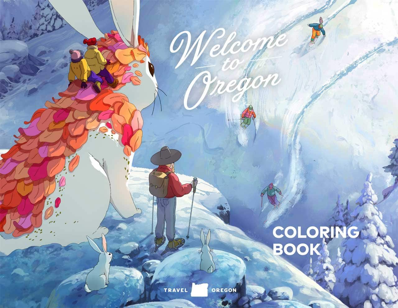 Travel Oregon Coloring Book