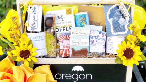 Corvallis-based Bella Vino Gifts fills its baskets and boxes with carefully selected Oregon-made products helping to supports other small businesses.
