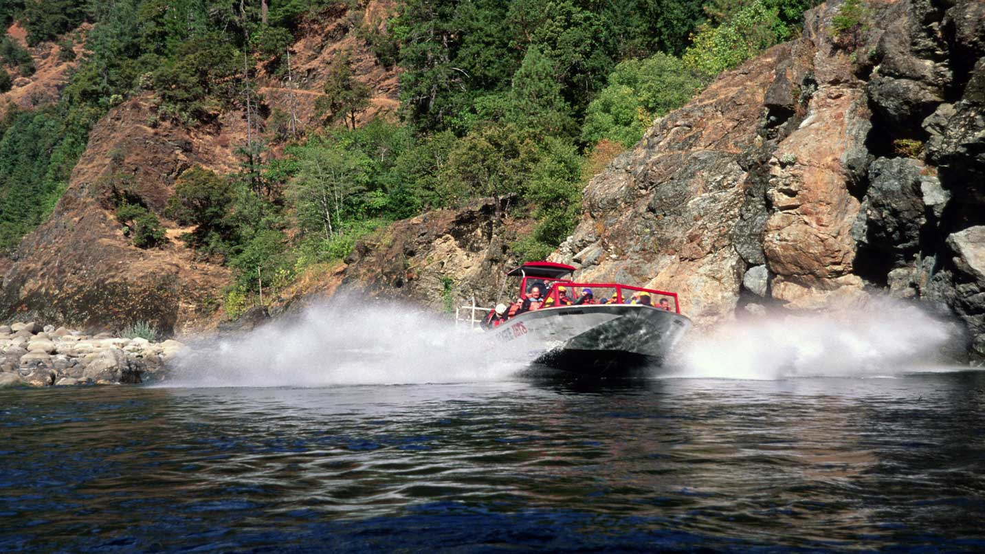 Jet boats tours are a fun way to explore the Rogue River.
