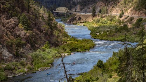 Hellgate Canyon is a popular part of the Rogue River for rafting trips. (Photo by Greg Shine / Bureau of Land Management Oregon and Washington)