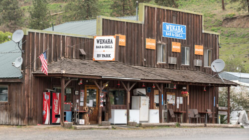 Grab food and beer to go, plus ice, snacks and other off-the-grid essentials at the century-old Wenaha Bar & Grill in Enterprise. (Photo by Leon Werdinger)