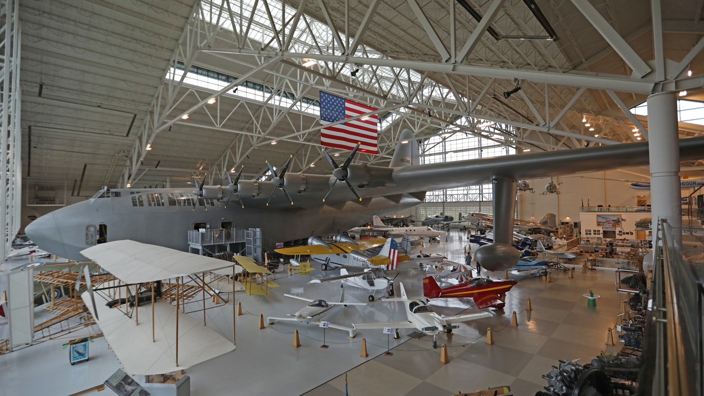 Inside the Evergreen Aviation & Space Museum is Howard Hughes' famous - and massive - Spruce Goose.