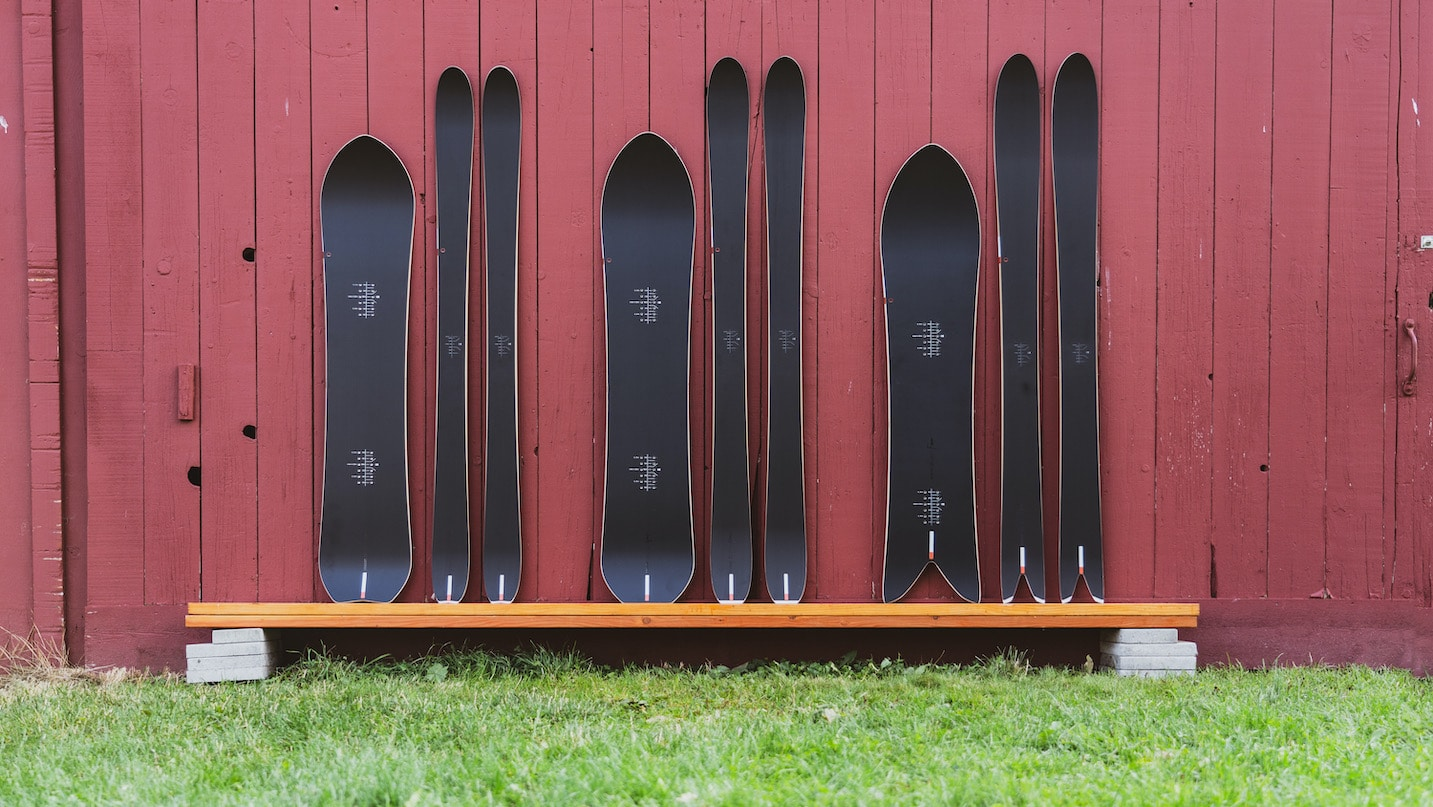 The full line of Season Eqpt. skis and snowboards.