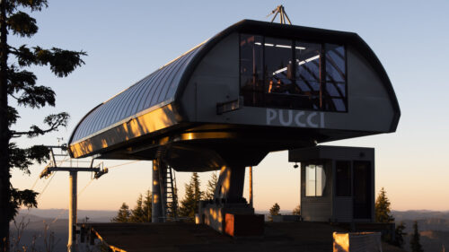 The new upper Pucci chairlift terminal at Timberline Ski Area.