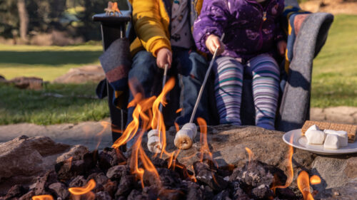 S'mores are always the perfect end to any family outdoor adventure. Salishan has two large fire pits for lounging around in the evenings.