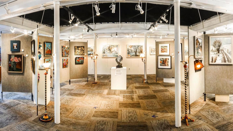 Inside view of an art gallery
