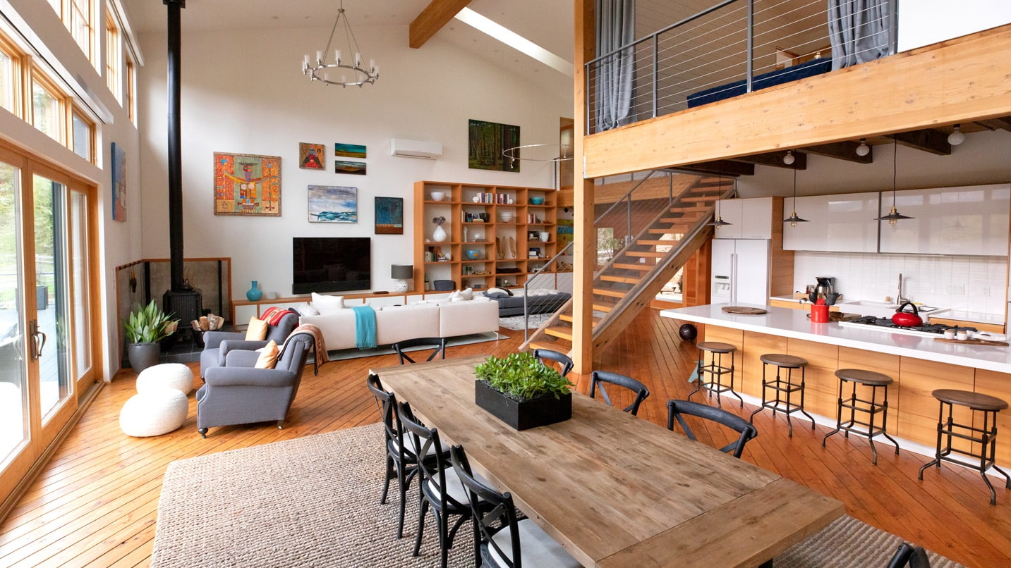 Natural light in an interior space