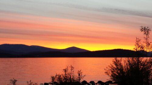 Sunset over Klamath Lake. Photo by Taylor Tupper, Klamath Tribes News Dept.